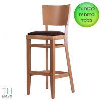 כסא בר מעץ דגם אינטר-02