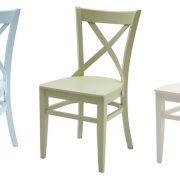 כסאות טל מעץ צבעוניים