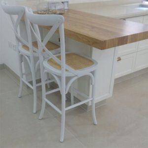 כסאות בר איקס לבן
