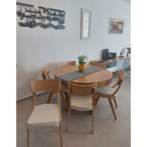 כסאות עץ אלון מעוצבים