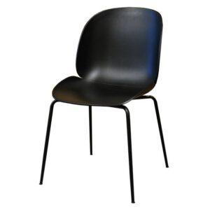 כסא ביטל פלסטיק שחור