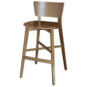 כסא בר מעץ אלון