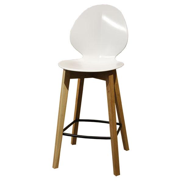 כסא בר בסיל בצבע לבן