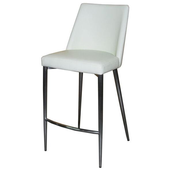 כסא בר הנרי מרופד רגלי נירוסטה