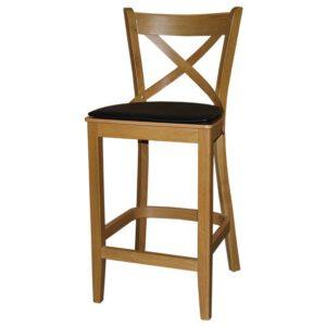 כסא בר טל מרופד דק