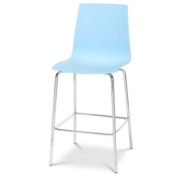 כסא בר פלסטיק ניס עם רגלי ניקל