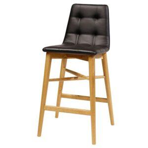 כסא בר קפיטונז' עץ אלון
