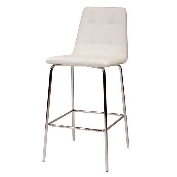 כסא בר קפיטונז' רגל ניקל