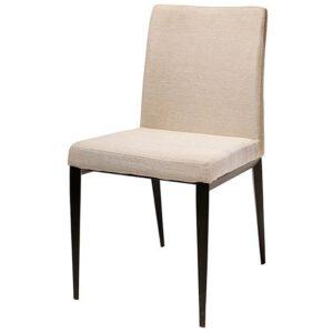 כסא מורל מרופד עם רגלי מתכת