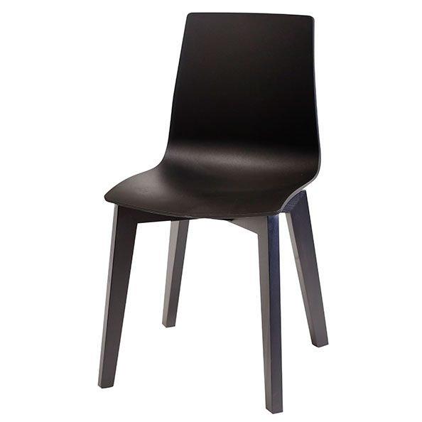 כסא ניס רגל שחורה מעץ
