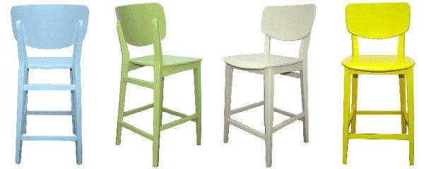 כסאות בר נופר צבעוניים