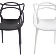 כסא מאסטר לבן שחור