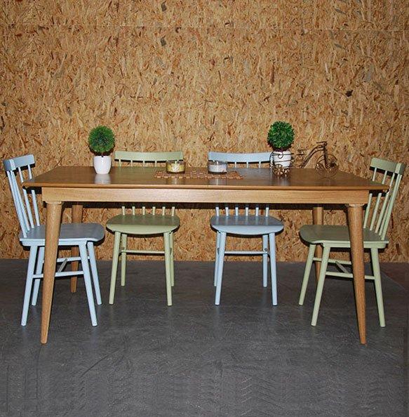 שולחן קל רגל עגולה