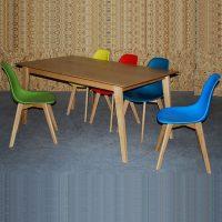 שולחן בריסל נפתח מעץ
