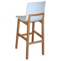 כסא בר גב עץ
