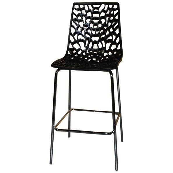 כסא בר חורים עם ניקל