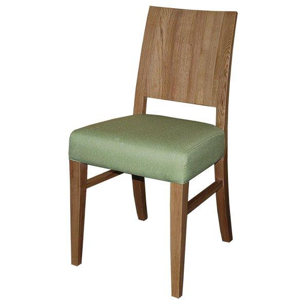 כסא עץ אלון מלא