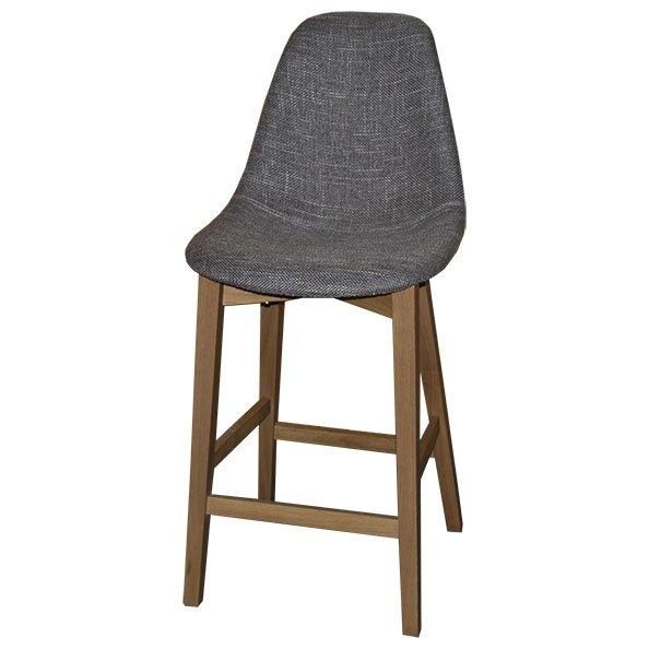 משהו רציני כסא בר 1325 מרופד בד - טיב העץ PN-91