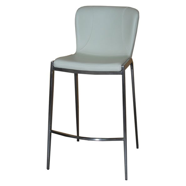 כסא בר ריפוד שמנת רגלי מתכת