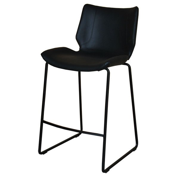 כסא בר מורין מרופד דמוי עור