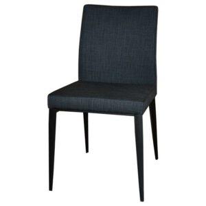 כסא מרופד רגליים שחורות