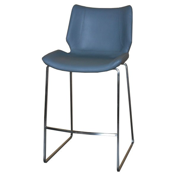 האופנה האופנתית כסא בר מורין רגל נירוסטה - טיב העץ II-77
