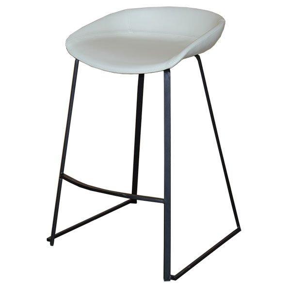 כסא בר מרופד לופז מושב שמנת