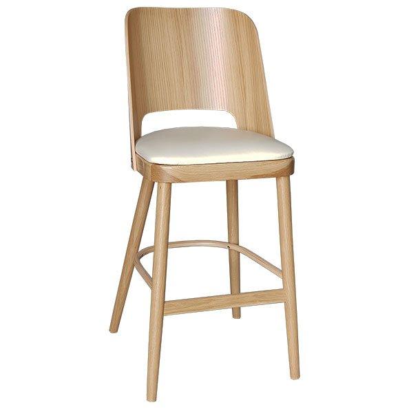 מיוחדים כסא בר דברה עץ אלון מרופד - טיב העץ FJ-52