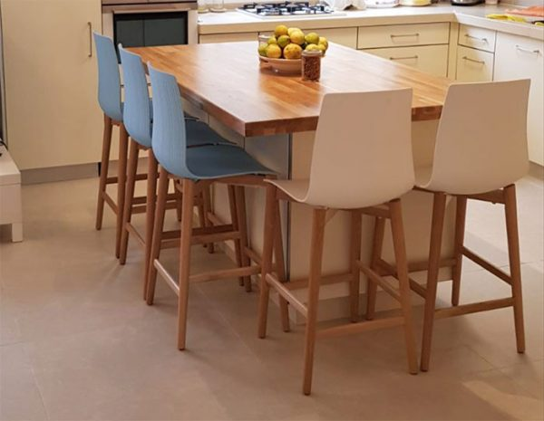 כסאות בר למטבח דגם ניס רגל עגולה