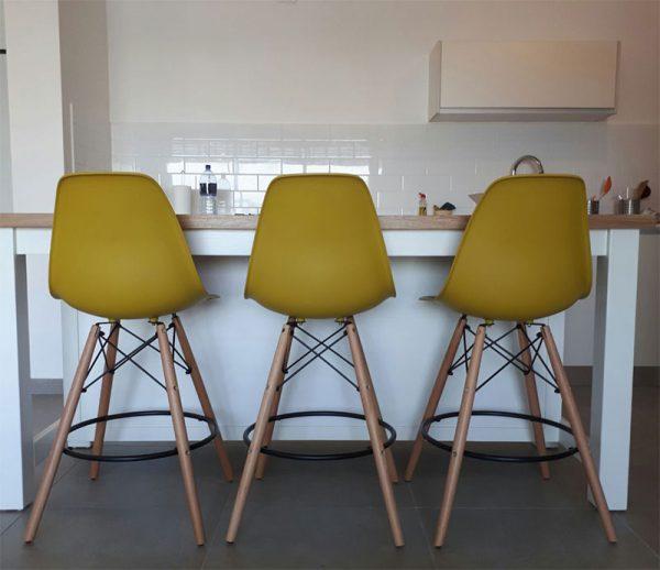 כסאות בר חרדל בזול