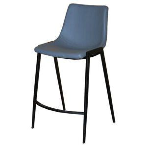 כסא בר מרופד מרטין אפור