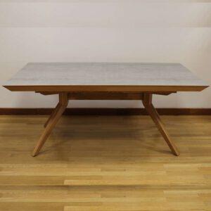 שולחן מלבני פורמייקת דמוי בטון