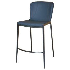 כסא בר מרופד רוברט אפור