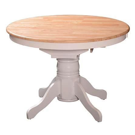 שולחן קטן נפתח רגל לבנה שמנת