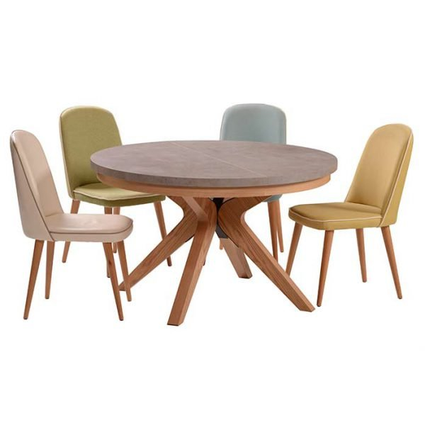שולחן פינת אוכל דמוי בטון