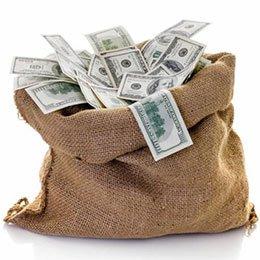 שק מלא בדולרים