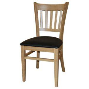 כיסא לפינת אוכל איתי עץ אלון מרופד