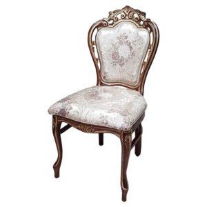 כסא 117 עם קושרת יוקרתי ומעוטר לפינת אוכל
