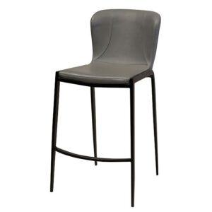 כסא בר מרופד אפור