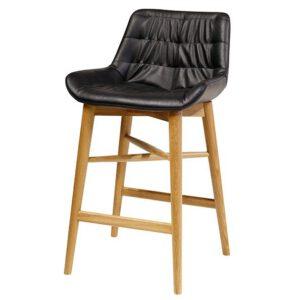 כסא בר פינוק רגל עץ