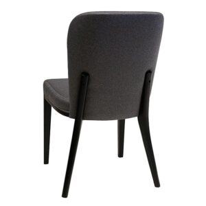 כסא טורינו אפור רגליים שחורות
