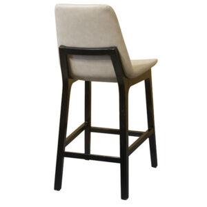 כסא בר מרופד רגליים שחורות