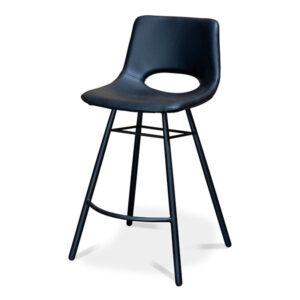 כסא בר מרופד שחור
