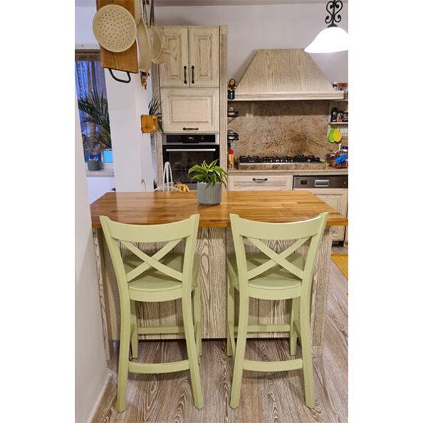 כסא בר ירוק פיסטוק