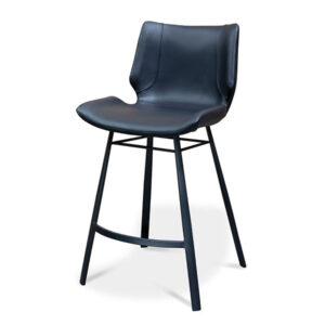 כסא בר שחור מרופד