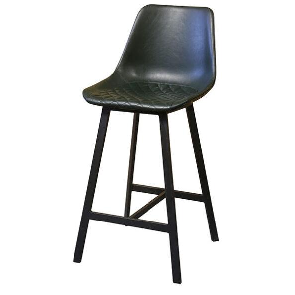 כסא בר ירוק כהה
