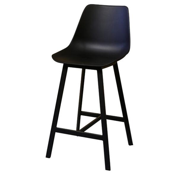 כסא בר פלסטיק שחור