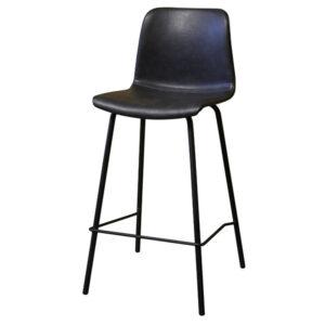 כסא בר מרופד שחור פיקאסו