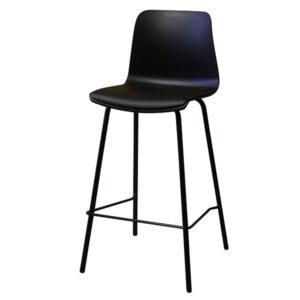כסא בר פלסטיק עם ריפוד