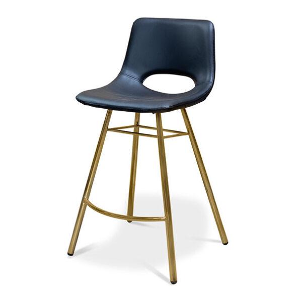 כסא בר רגליים זהב